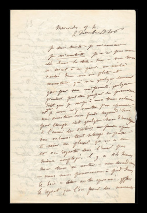 Autograph letter signed by Flaubert
