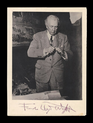 Autograph letter signed by frank Lloyd Wright