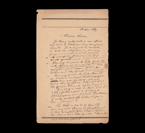 Autograph letter signed by Paul Verlaine